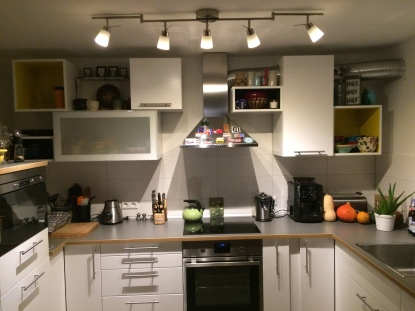 Our kitchen, now that it's an actual kitchen