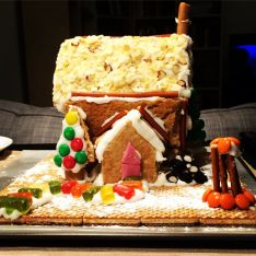 Our first gingerbread house