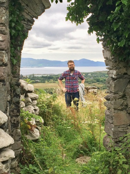 Here we see Daniel Powell, killing it in his red and blue flannel shirt. I'm standing inside the ruins of an old chapel (I think...or some kind of weird burial chamber...we'll go with the first option).